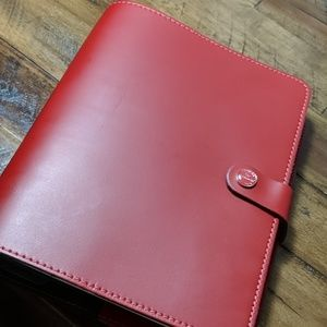 Filofax A5 Original Pill Box Red Leather Planner
